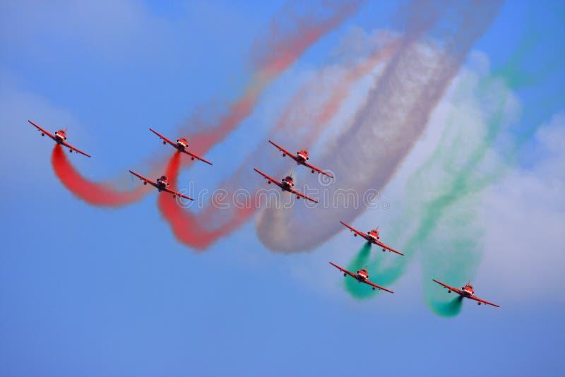 Volo Aerobatic fotografie stock