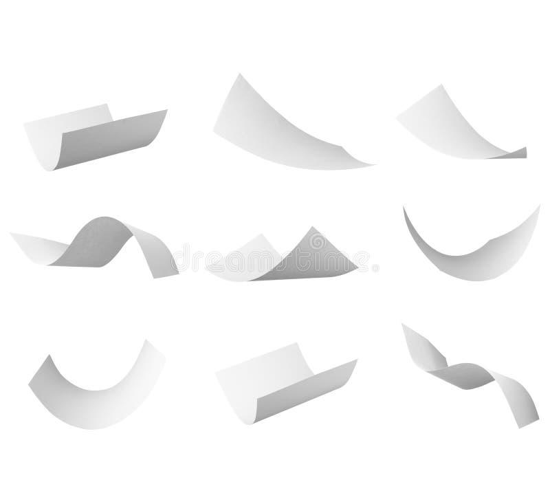 Volo in bianco del documento dell'arricciatura in vento fotografia stock