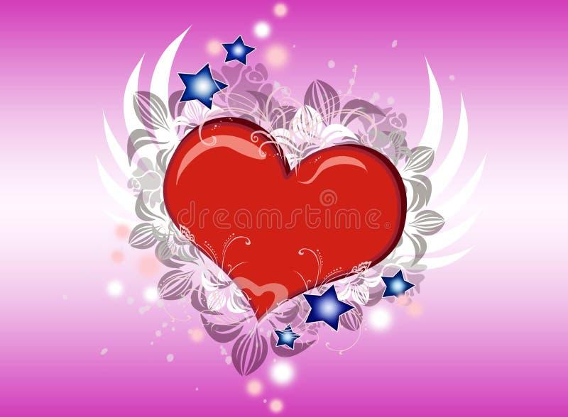 Volo del cuore immagine stock