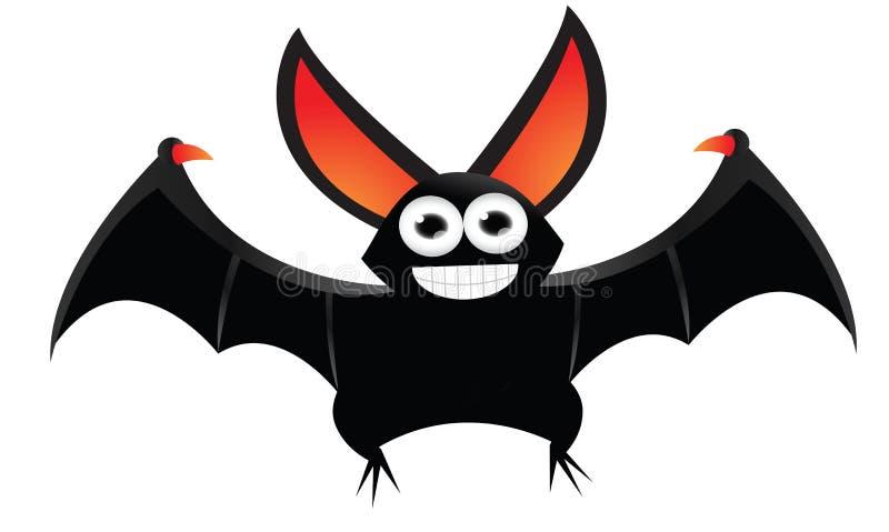 Volo del fumetto del pipistrello illustrazione vettoriale
