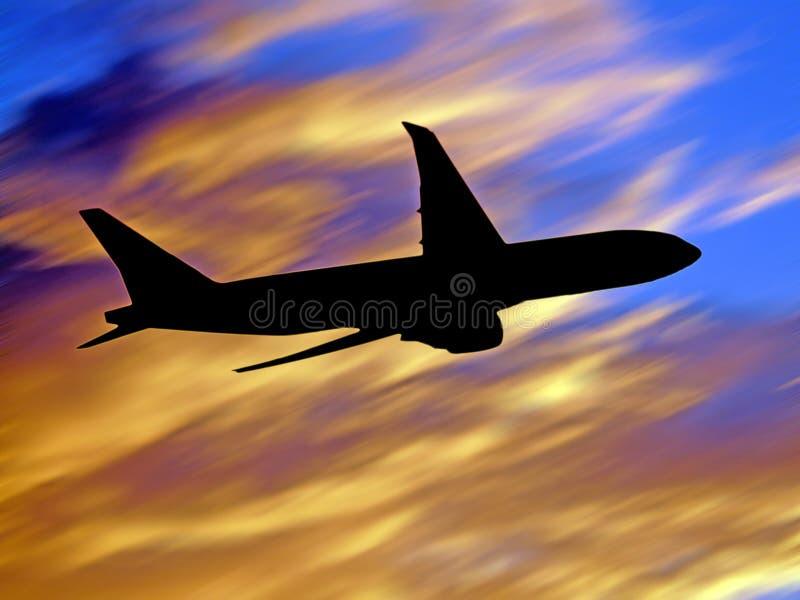 Volo del jet fotografia stock