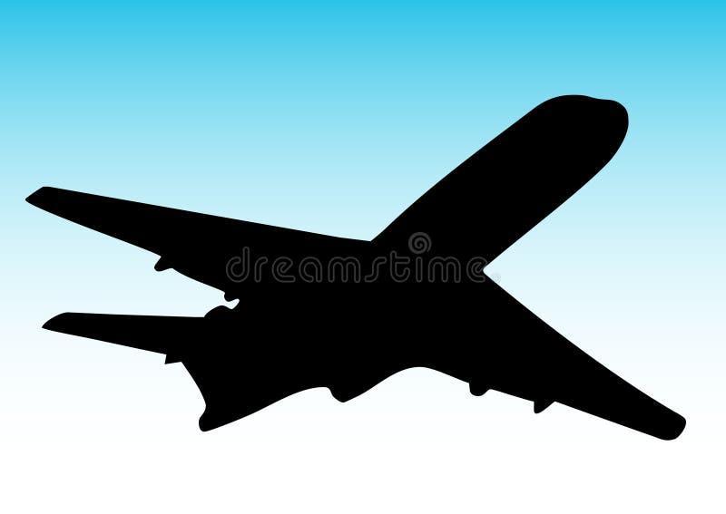 Download Volo dell'aeroplano illustrazione vettoriale. Illustrazione di volo - 7300871