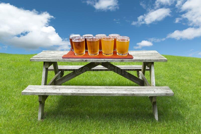 Volo della birra fotografia stock
