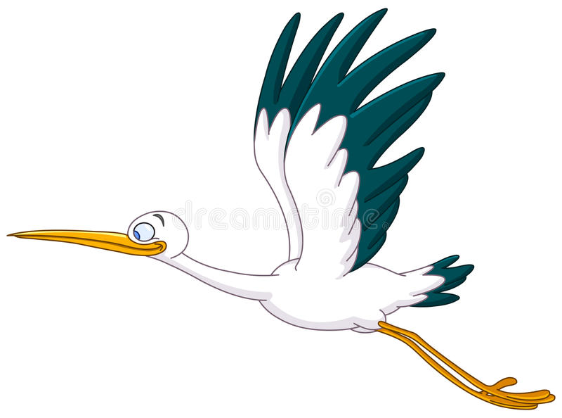 Volo della cicogna illustrazione vettoriale