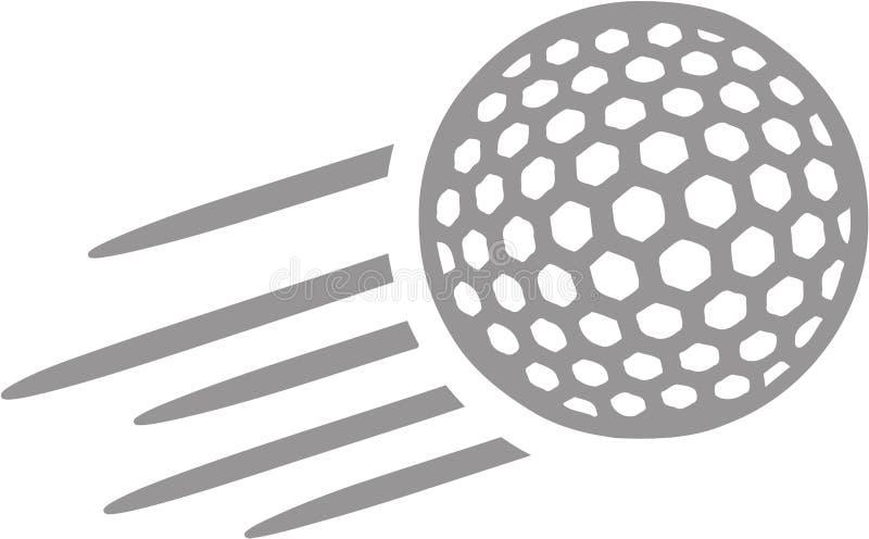 Volo della palla da golf illustrazione vettoriale