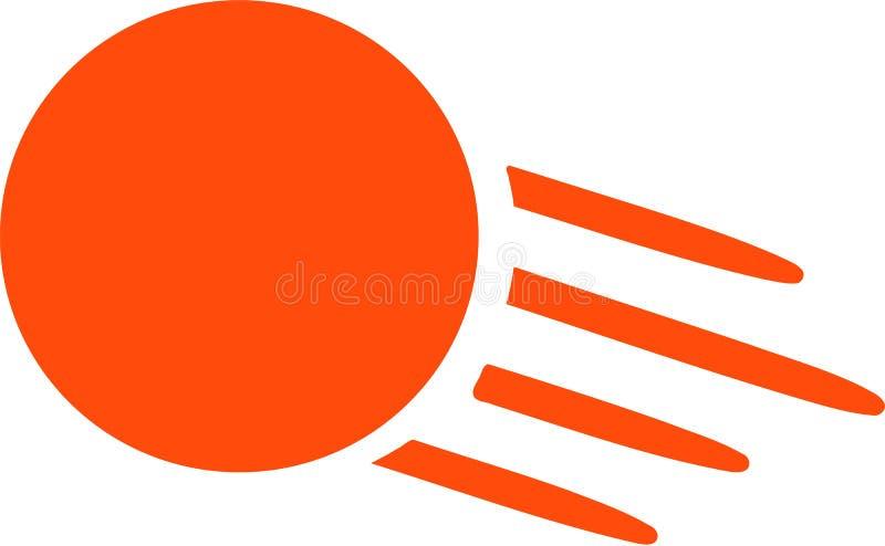 Volo della pallina da tennis della Tabella royalty illustrazione gratis