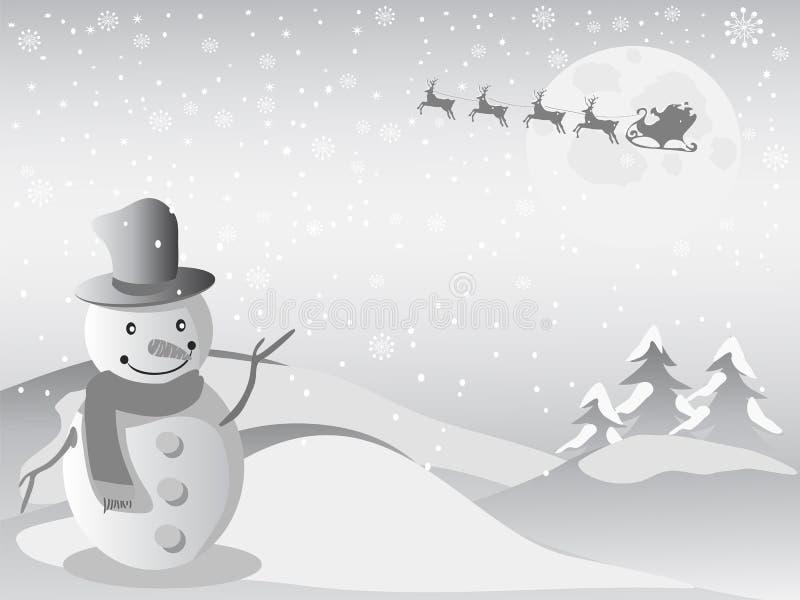 Volo della Santa per il natale royalty illustrazione gratis