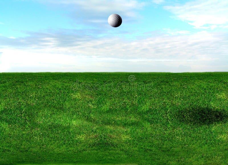 Volo della sfera di golf immagini stock libere da diritti