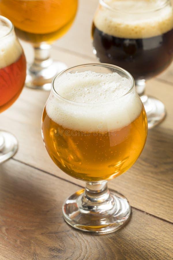 Volo di rinfresco della birra fredda fotografie stock