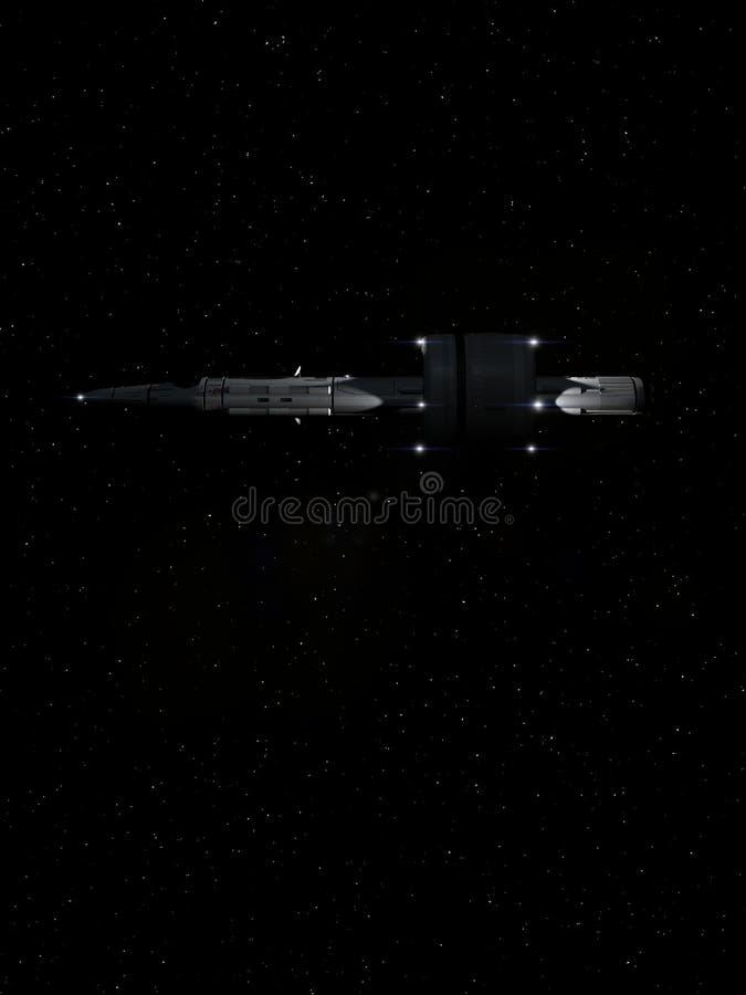 Volo interstellare 8 dell'astronave illustrazione di stock