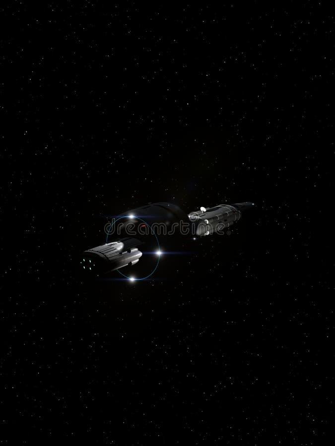 Volo interstellare 7 dell'astronave royalty illustrazione gratis