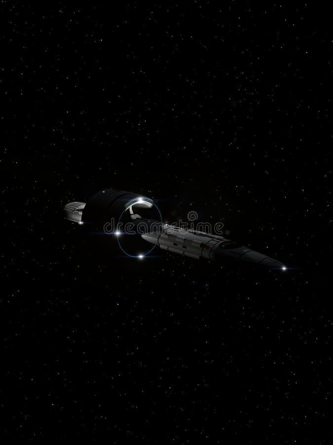Volo interstellare 3 dell'astronave illustrazione vettoriale