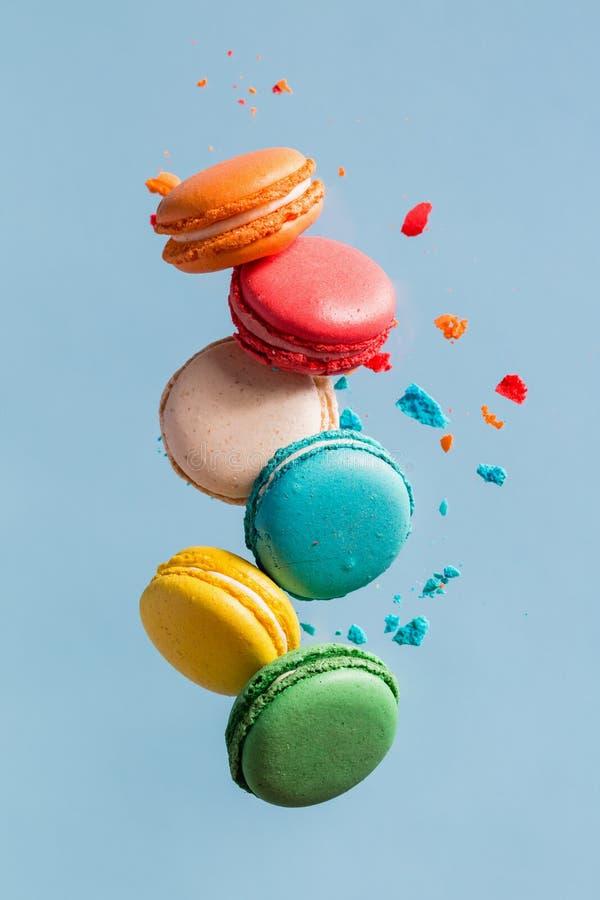 Volo Macarons immagine stock
