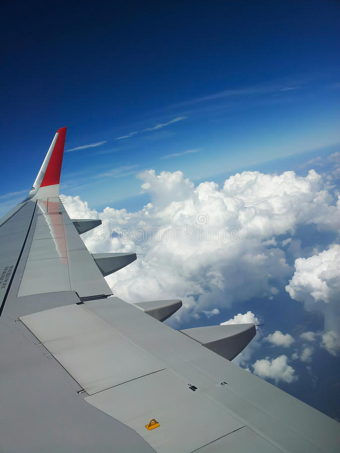 Volo sopra Singapore fotografia stock libera da diritti