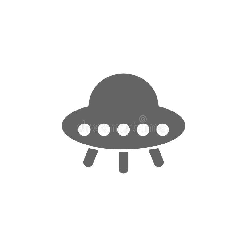 Volo, UFO, icona del piatto Elemento dell'icona semplice di trasporto Icona premio di progettazione grafica di qualit? Segni ed i illustrazione vettoriale