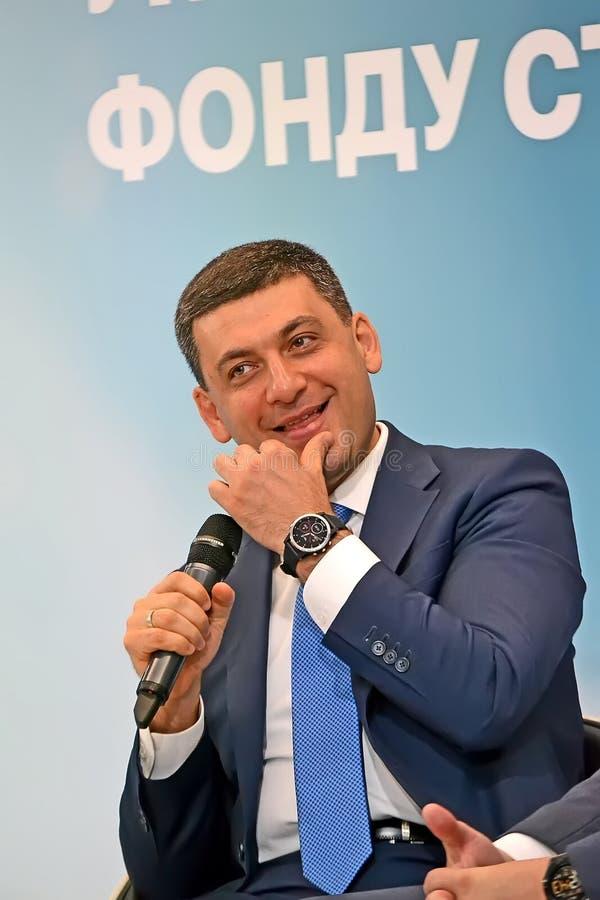 Volodymyr Groysman Vladimir Hroisman Primo Ministro dell'Ucraina, fotografie stock libere da diritti