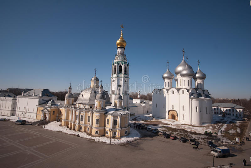 Vologda el Kremlin foto de archivo