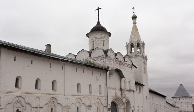 Vologda, Rusland Het Klooster spaso-Prilutsky is een Russisch Orthodox klooster stock afbeelding