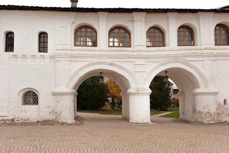 Vologda, Rusland Het Klooster spaso-Prilutsky is een Russisch Orthodox klooster royalty-vrije stock afbeeldingen