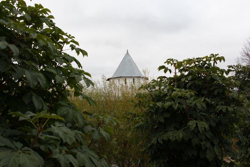Vologda, Rusland Het Klooster spaso-Prilutsky is een Russisch Orthodox klooster royalty-vrije stock foto