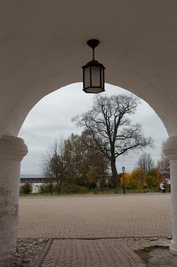 Vologda, Rusland Het Klooster spaso-Prilutsky is een Russisch Orthodox klooster stock fotografie