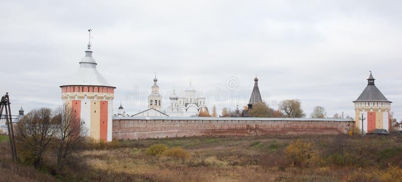Vologda, Rusland Het Klooster spaso-Prilutsky is een Russisch Orthodox klooster royalty-vrije stock foto's
