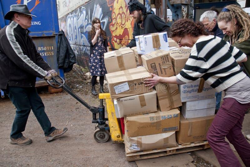 Volontaires du Livre-Cycle, R-U volutary photos libres de droits
