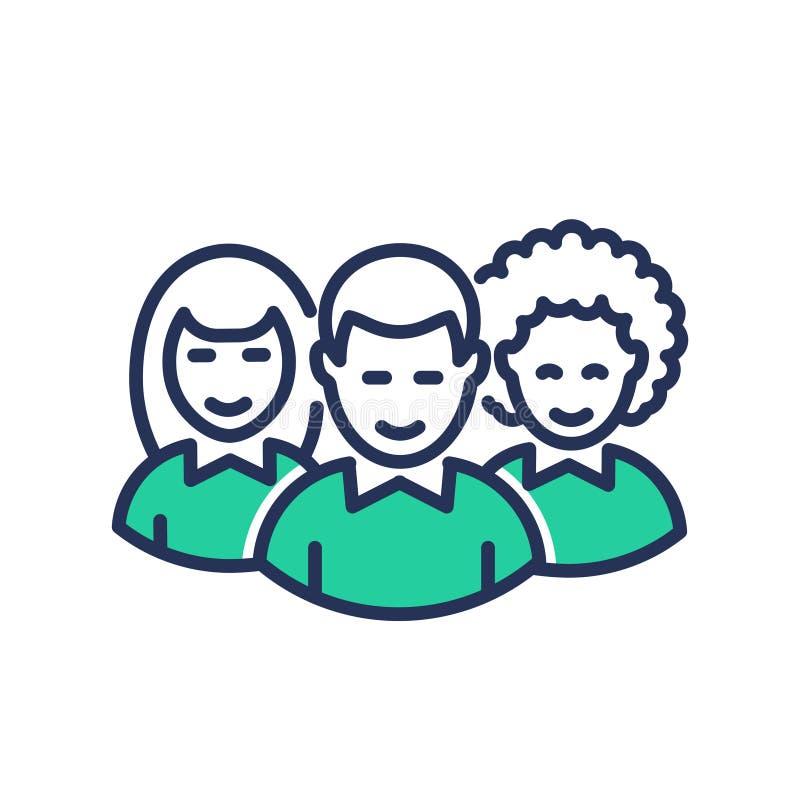 Volontaires - ligne moderne icône de vecteur illustration stock