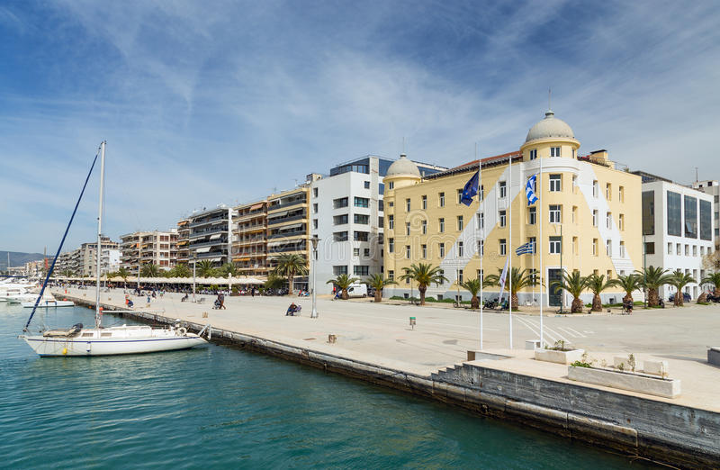 Volos city waterfront, Thessaly, Greece stock photo