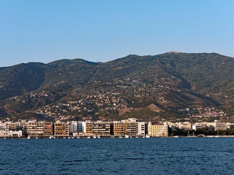 Volos, Grèce, vue à travers le port photo libre de droits