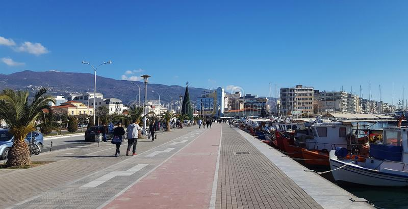 VOLOS, GREECE - DECEMBER 27 2017: The beautiful city of Volos, Greece stock photography