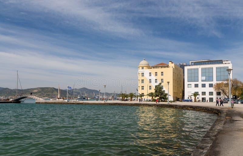 Volos miasta nabrzeże, Thessaly, Grecja obrazy royalty free