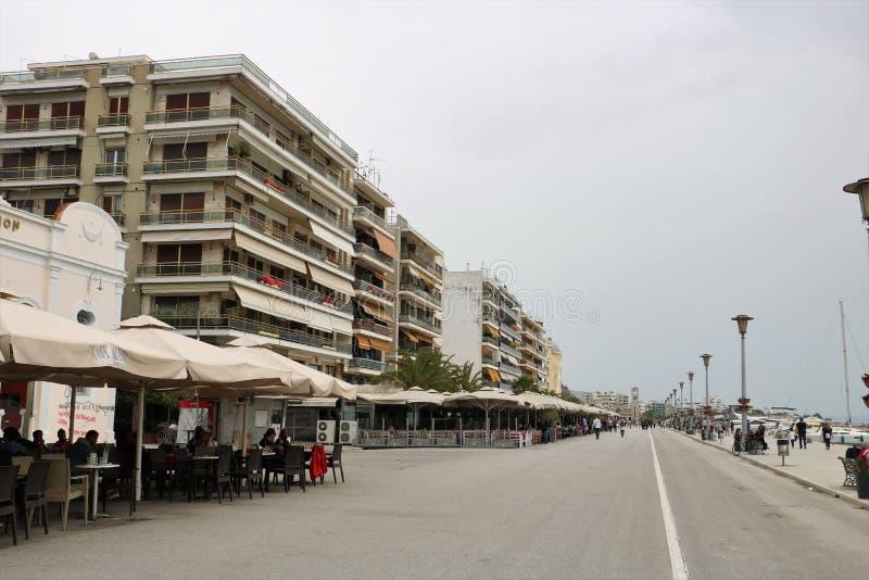 Volos waterfront promenade stock photo