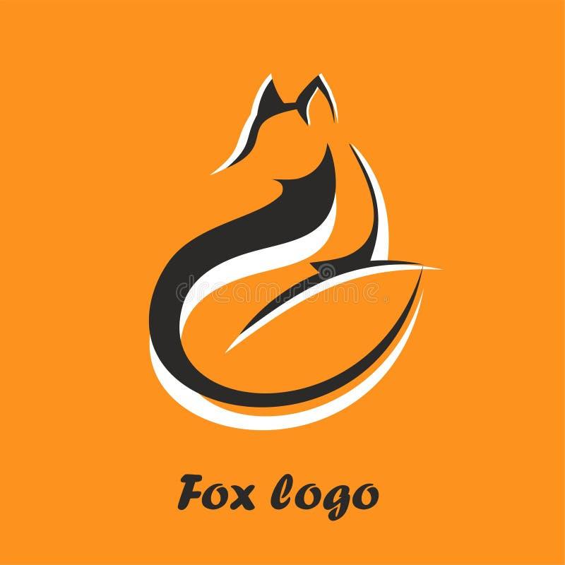 Volpe di logo di vettore Seduta e distogliere lo sguardo di Fox Il simbolo laconico per le icone, logos fox, distintivi ed emblem illustrazione vettoriale