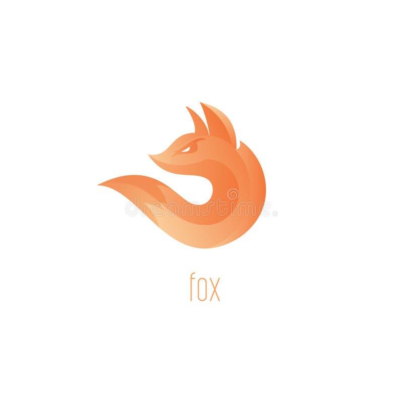 Volpe di logo Simbolo di vettore dell'estratto della fiamma di Fox illustrazione di stock
