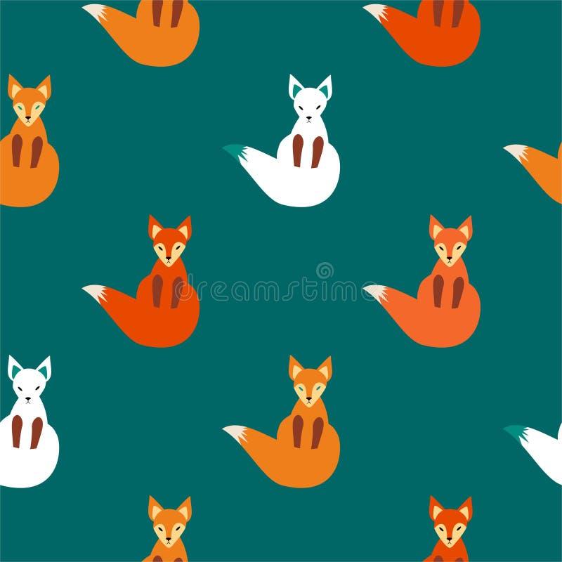 Volpe di logo di vettore Seduta di Fox illustrazione vettoriale