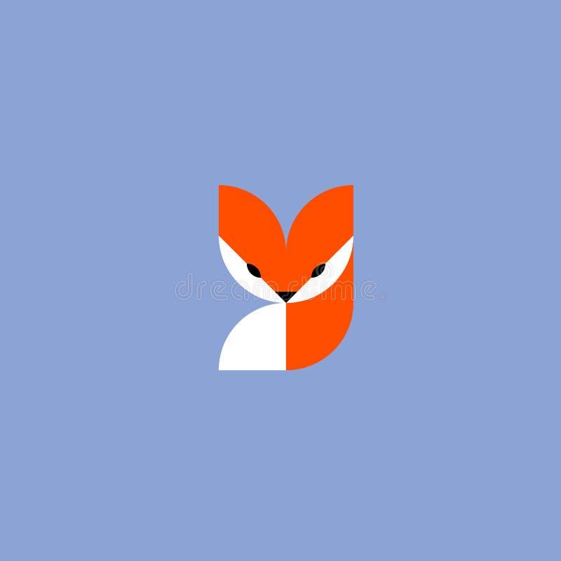 volpe Modello o icona del segno di logo di vettore royalty illustrazione gratis