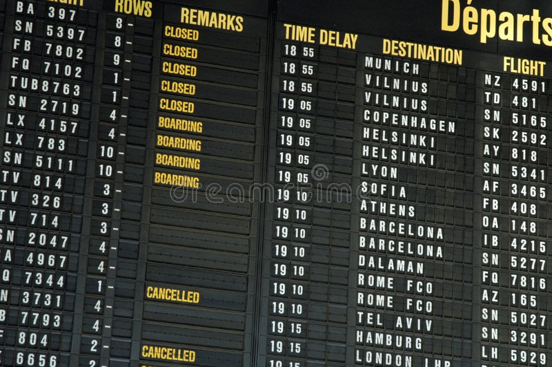 Vols d'aéroport photos libres de droits