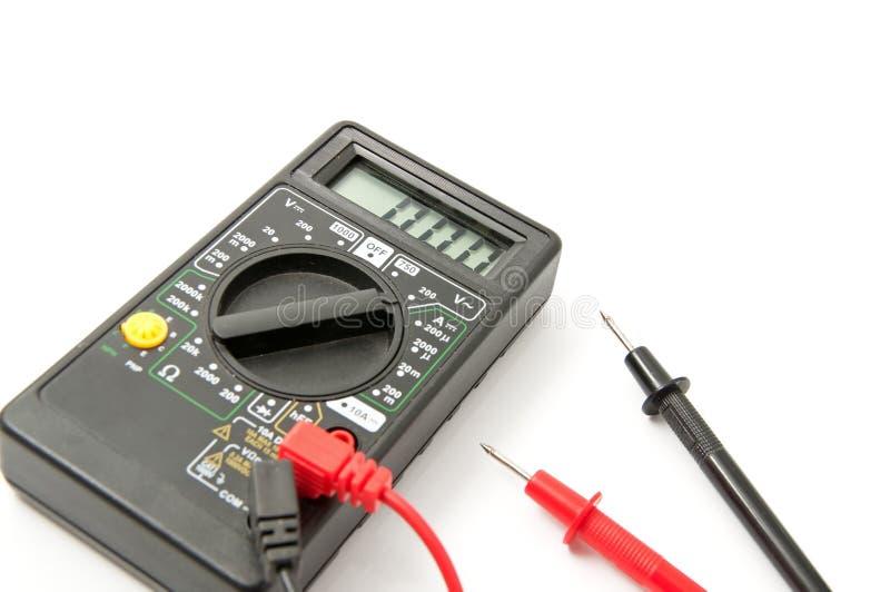 Voltímetro electrónico imagen de archivo