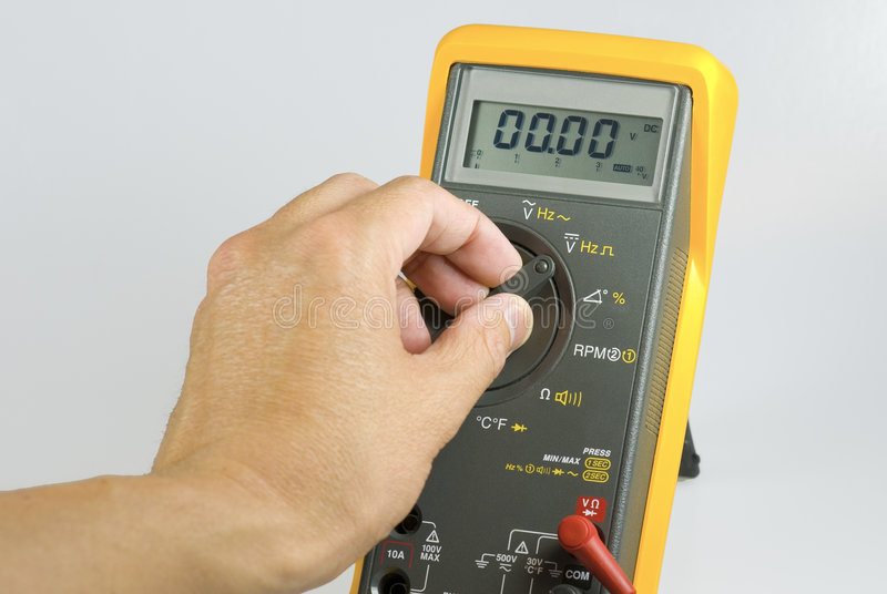 Download Volt Meter2 stock image. Image of plastic, electrician - 2252715