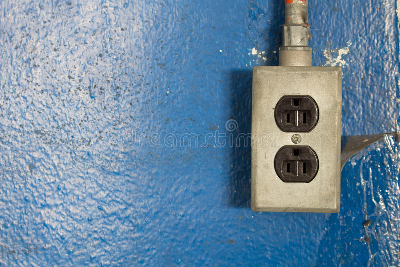 220-volt power outlets. For the industry stock photo