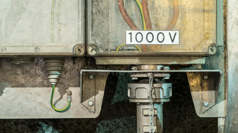 1000 volt. Power supply royalty free stock images