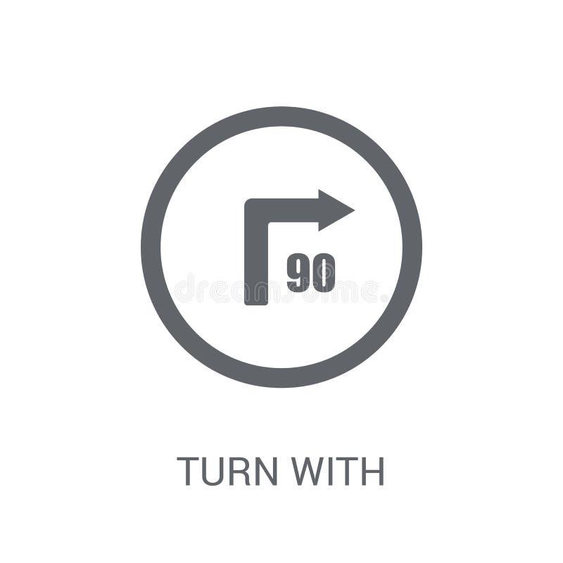 volta com ícone consultivo do sinal da velocidade  ilustração do vetor