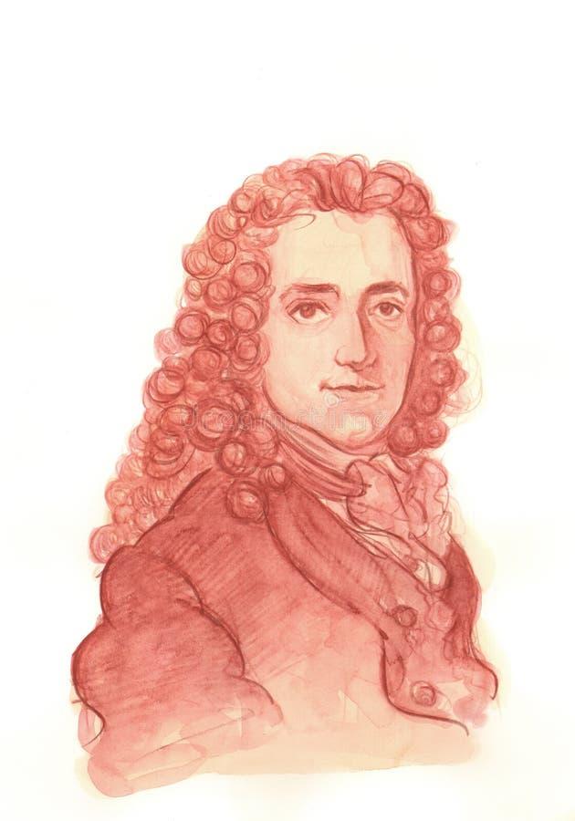 Voltaire Watercolour portret