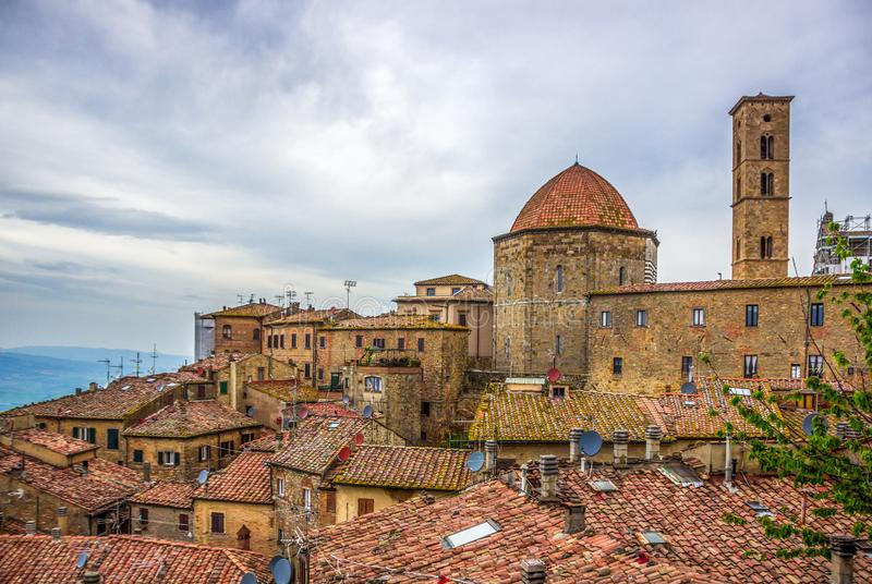Volterra medieval town in Tuscany royalty free stock photo
