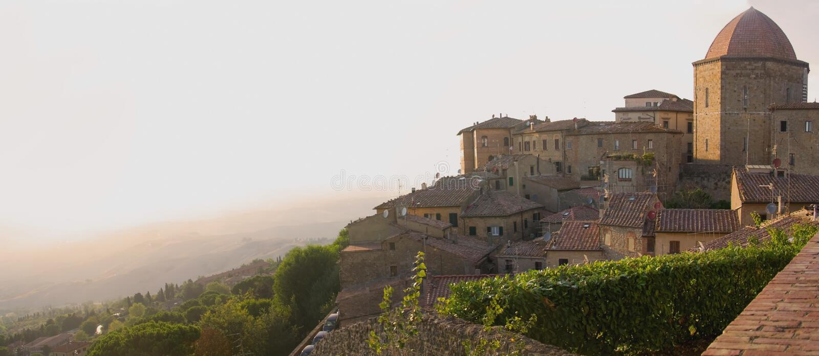 Volterra, Tuscany panorama royalty free stock images