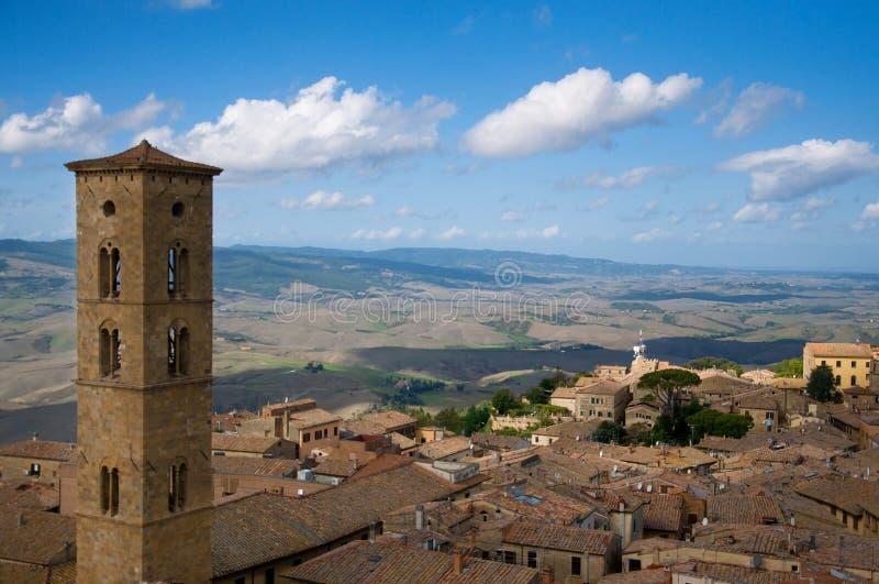 Volterra vom Dach stockfotos