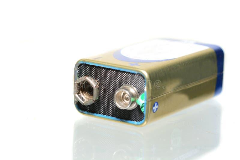 9 voltios de batería fotos de archivo libres de regalías