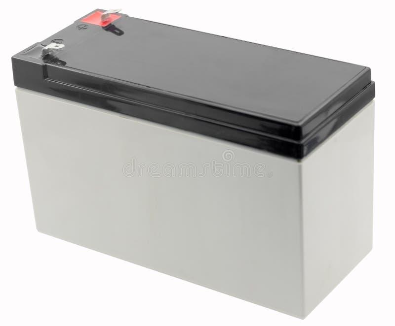 12 voltios de batería aislada en blanco foto de archivo libre de regalías