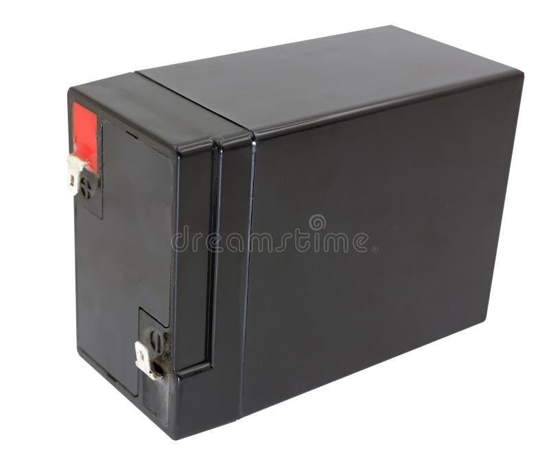 6 voltios de batería aislada en blanco foto de archivo libre de regalías